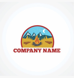 camp logo icon element and template vector image