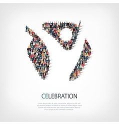 celebtration people sign 3d vector image
