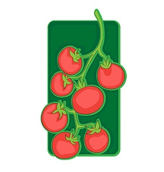 Cherry tomato clip art vector