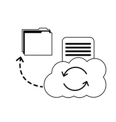 cloud computing reload folder file data document vector image