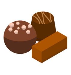 Cocoa choco icon isometric style vector