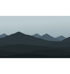 Collection of mountain landscape vector