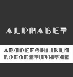 creative minimalistic font english vector image