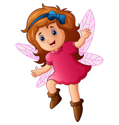 cute little fairy in fly vector image