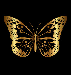 Decorative silhouette of butterfly vector