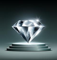 Diamond on podium vector