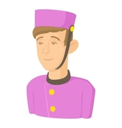 Doorman icon cartoon style vector image