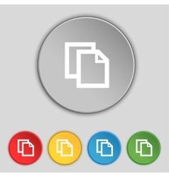 Edit document sign icon content button Set vector