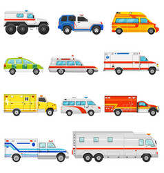 emergency vehicle ambulance transport and vector image