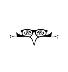 eye-reading-logo vector image