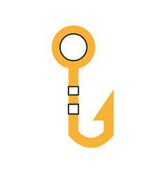 fishing hook isolated icon vector image