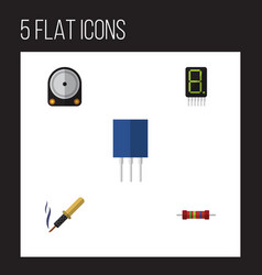 Flat icon appliance set of display receptacle vector