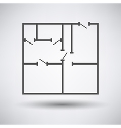 Flat plan icon vector image