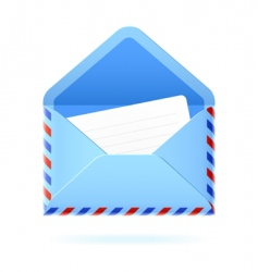 foreign mail icon vector image
