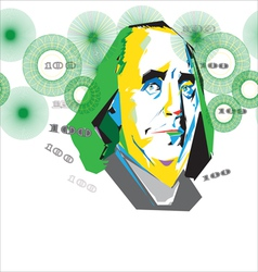 franklin 100 usd vector image