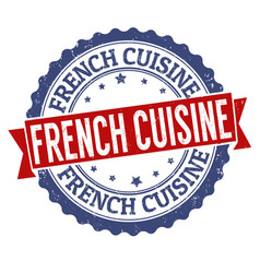french cuisine grunge rubber stamp vector image