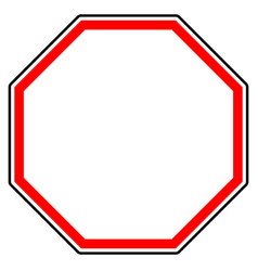 generic red prohibition restriction sign road vector image