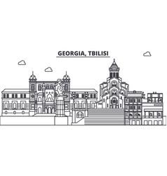 Georgia tbilisi line skyline vector