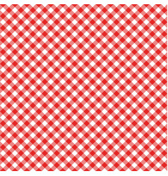 gingham seamless pattern red italian tablecloth vector image