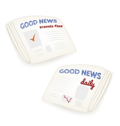 Good news daily newspaper vector image
