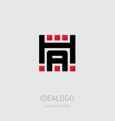 h and a logo ha - monogram or logotype design vector image