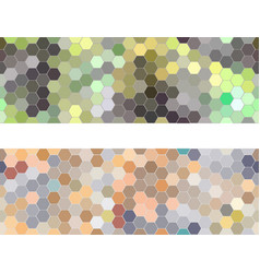 hexagon seamless pattern abstract two banners vector image