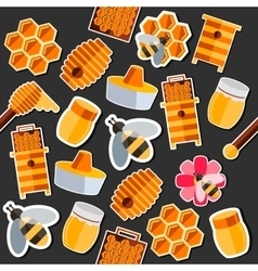 Honey flat collage vector