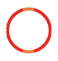 Hula hoop icon vector