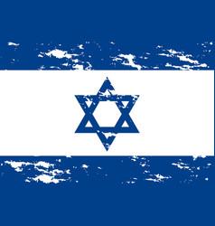 Israel flag grunge vector