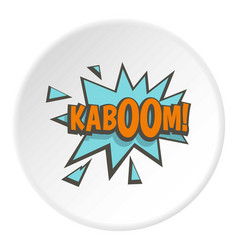 kaboom comic text sound effect icon circle vector image