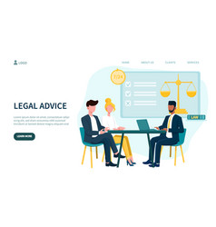 Legal advice concept and business men in meeting vector