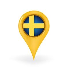 Location Sweden vector image