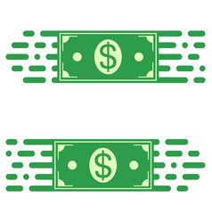 logo fast transfer money dollar bill fast motion vector image