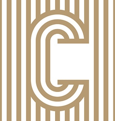 Logo Letter Line Alphabet Design vector image