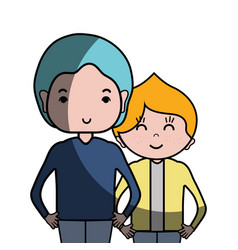 Man father with his son and hairstyle design vector