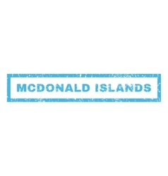 Mcdonald Islands Rubber Stamp vector