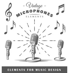 musical elements vector image