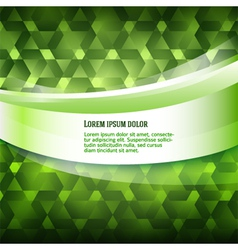 new product label green glowing background vector image
