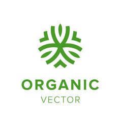 organic creative label eco friendly products logo vector image