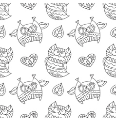 Owls for coloring vector