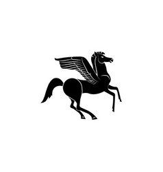 pegasus icon black on white background vector image