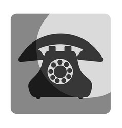 Phone service button icon vector