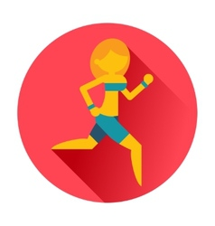 running sports girl icon vector image
