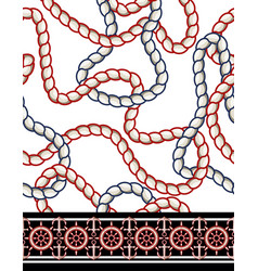 seamless pattern with rope anchor and steering vector image