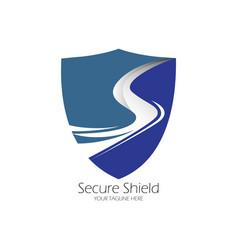 secure shield logo design vector image