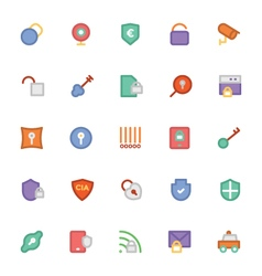 Security Colored Icons 5 vector