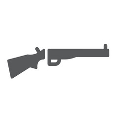 Shotgun glyph icon weapon and military rifle vector