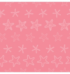 Starfish pink pastel stripe line art seamless vector image