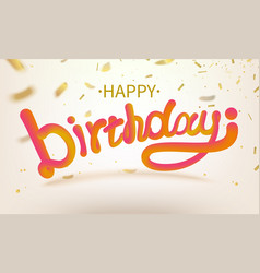 Stock defocused happy birthday vector