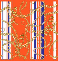 striped chain pattern vector image